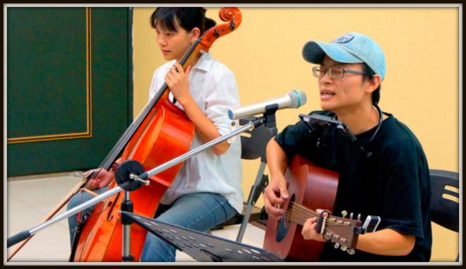 黃瑋傑現場表演,圖片來源:地球公民基金會